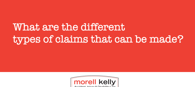 What are the different types of claims that can be made?