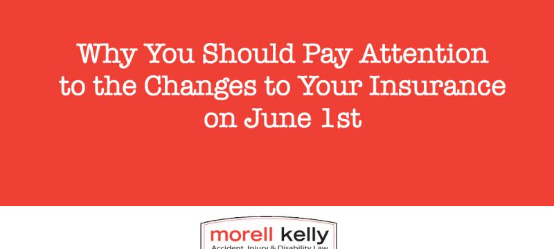 Insurance changes on June 1st