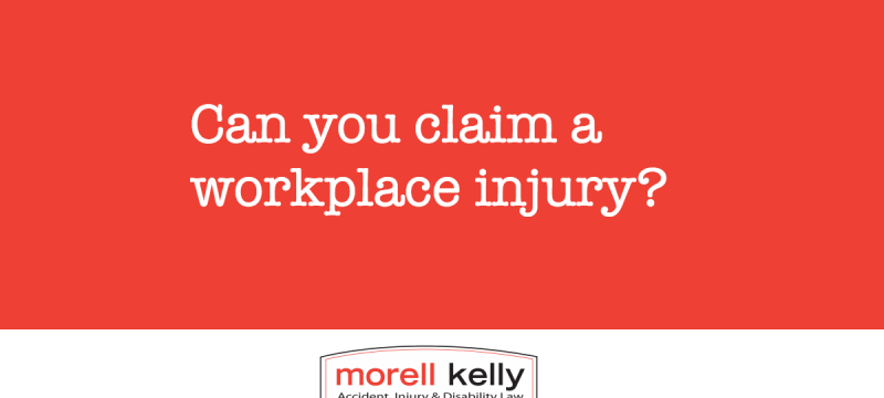 Can you claim a workplace injury?